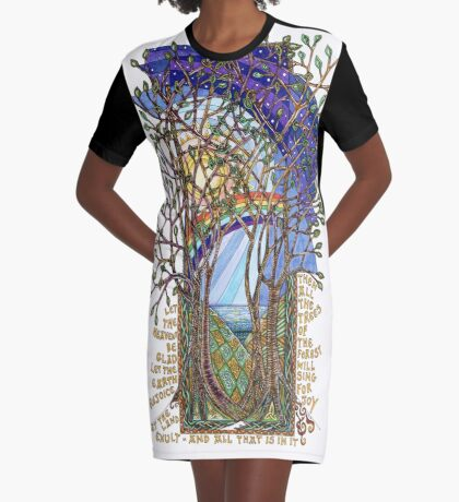 Sing for Joy - Psalm 86 Graphic T-Shirt Dress