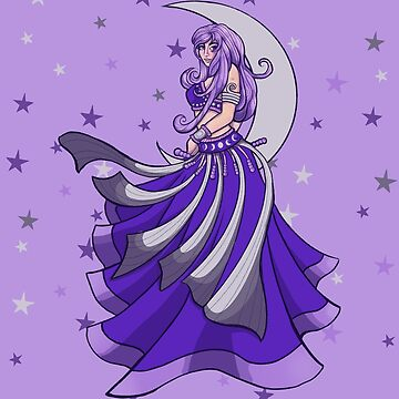 Violet Moon Belly Dancer by Boogiemonst