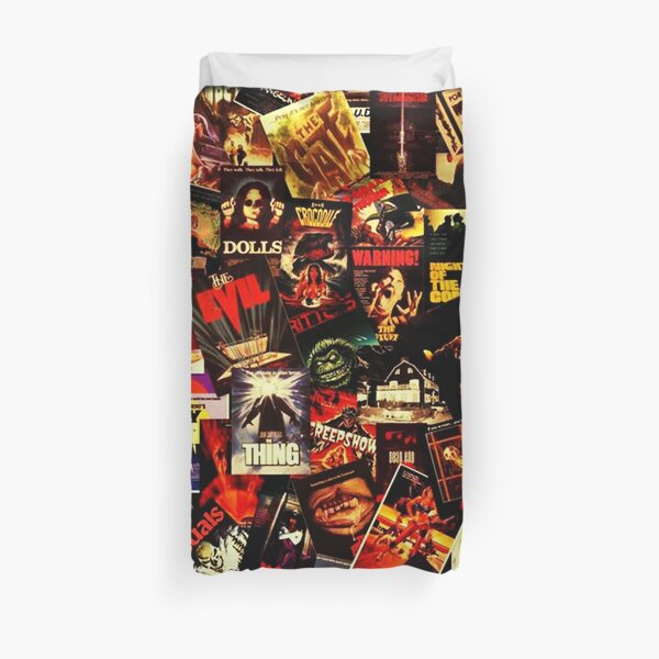 Horror Movies Collage Duvet Cover