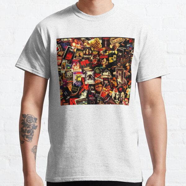 Horror Movies Collage Classic T-Shirt
