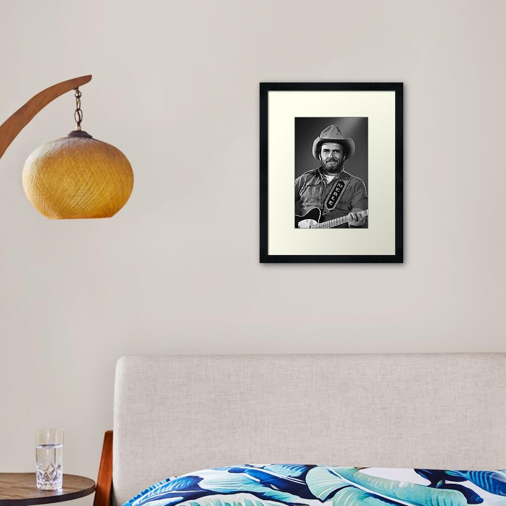 Merle Haggard Framed Art Print
