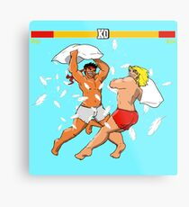 Pillow Fighter 2 Turbo Champion Edition Metal Print