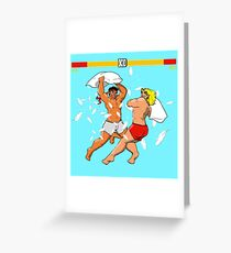 Pillow Fighter 2 Turbo Champion Edition Greeting Card