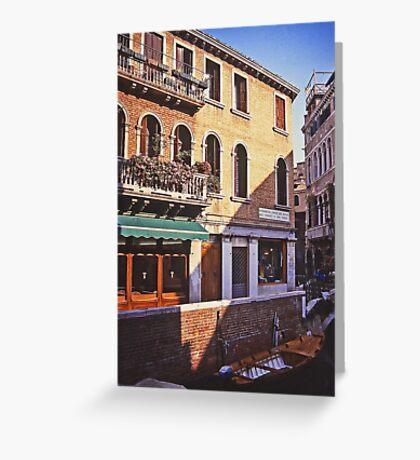 Fondamenta del Piovan, Venice Greeting Card