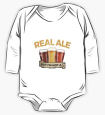 Funny Real Ale Give Up Beer But Not A Quitter  One Piece - Long Sleeve