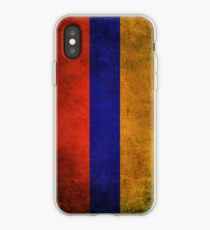 Old and Worn Distressed Vintage Flag of Armenia iPhone Case