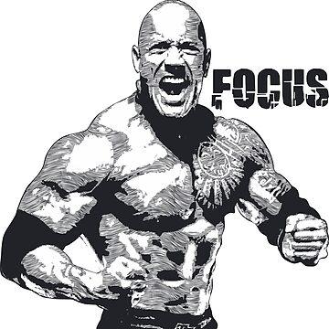 Dwayne Johnson Focus by pronyctech