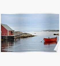 Red Boat - Peggy's Cove Nova Scotia Poster