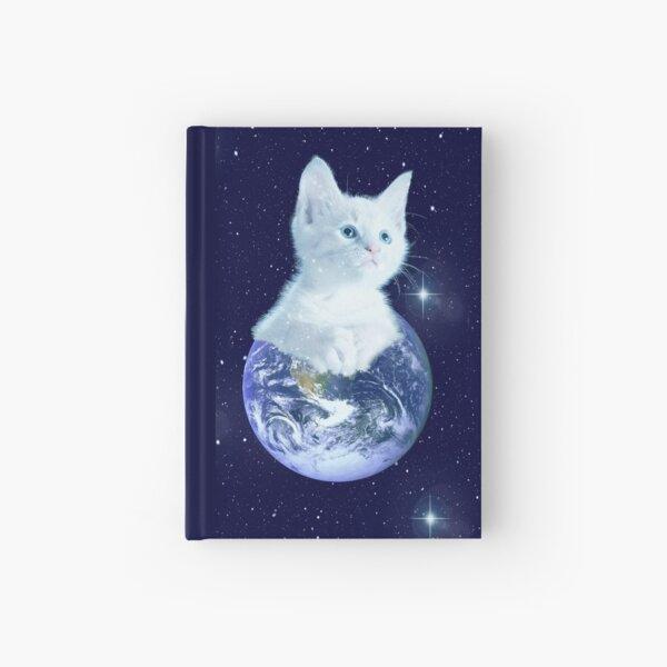 Space Baby Cat auf der Erde Notizbuch