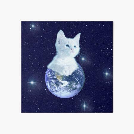 Space Baby Cat auf der Erde Galeriedruck