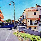 Street of Grisolia by Giuseppe Cocco