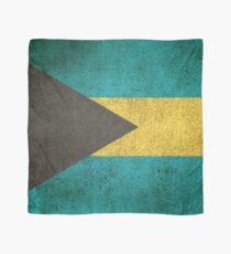 Old and Worn Distressed Vintage Flag of Bahamas Scarf