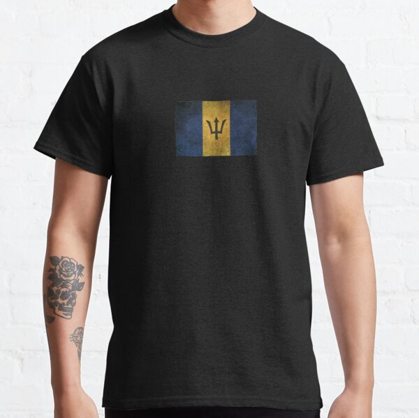 Old and Worn Distressed Vintage Flag of Barbados Classic T-Shirt