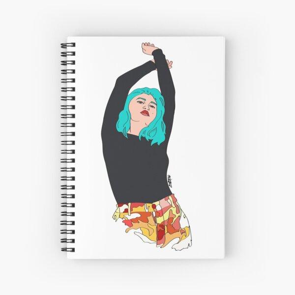 Ocean Hair and Sunset Hips Spiral Notebook
