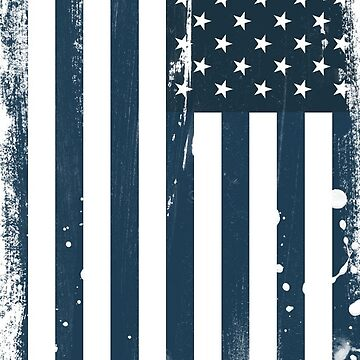 USA Flag in monotone colors  by JDJDesign