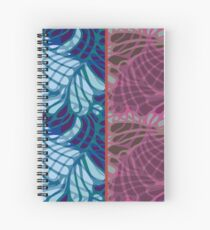 Blue and Purple Abstract Spiral Notebook