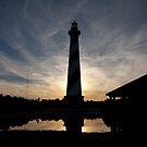 Lighthouse at sunset by jcmeyer