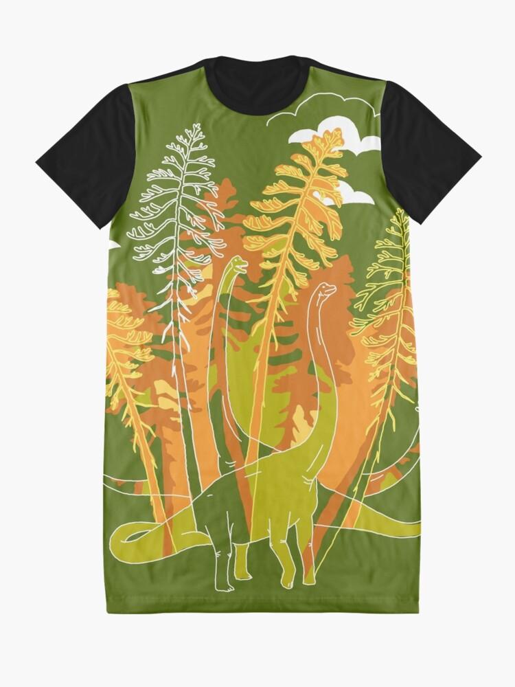 Alternate view of Brachio Grove | Dinosaur Art Graphic T-Shirt Dress
