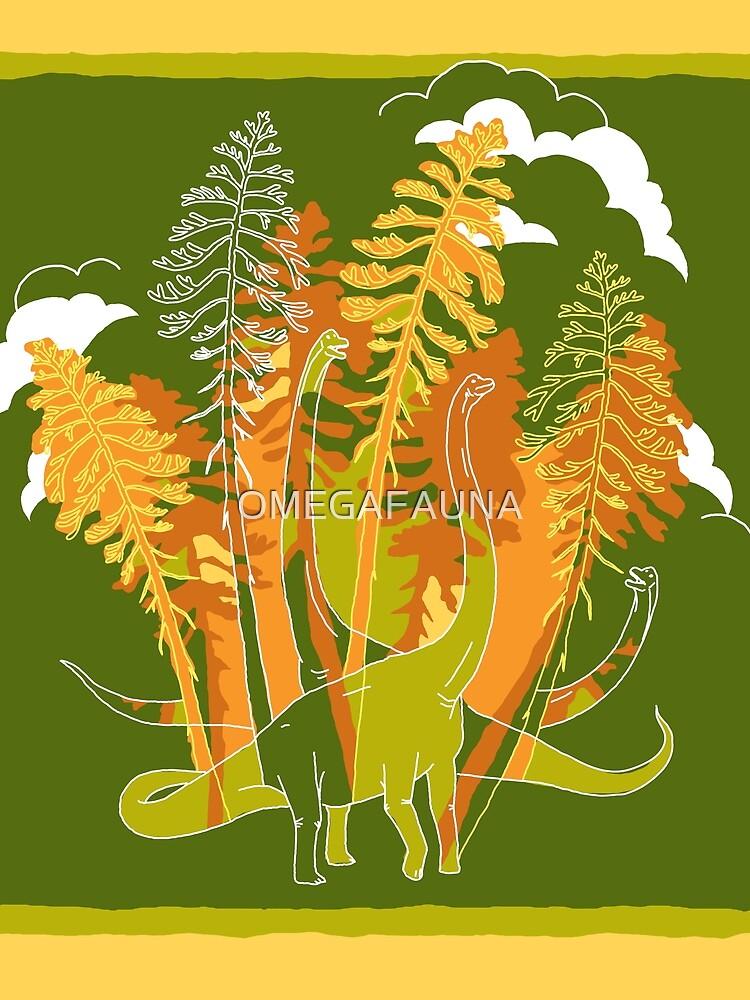 Brachio Grove | Dinosaur Art by OMEGAFAUNA