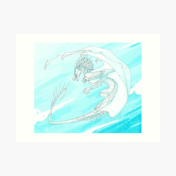 IceWing in Flight Art Print