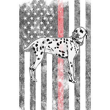 Dalmatian dog American Flag Thin Red Line Firefighter Shirt by we1000