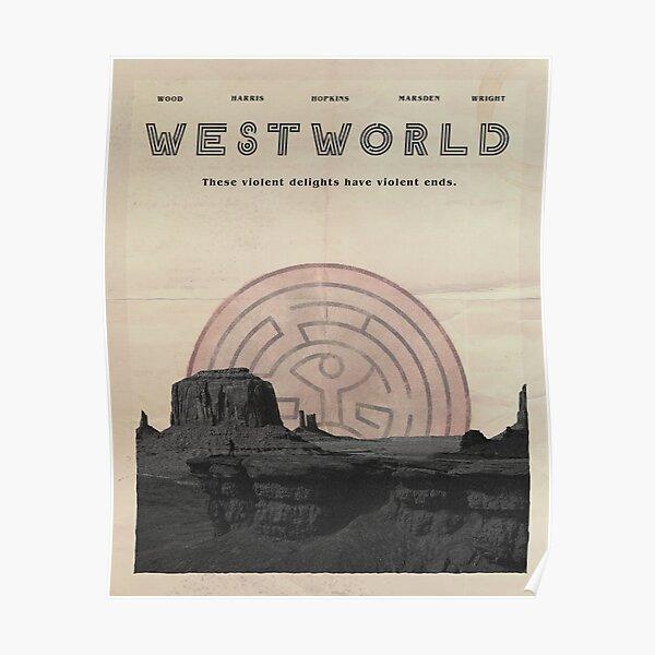 Westworld Vintage Poster