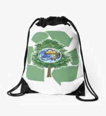 recycle earthday Drawstring Bag