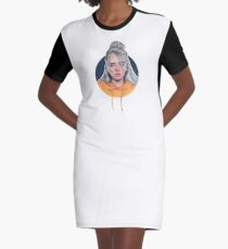 Billie Eilish Cartoon T-Shirt Kleid
