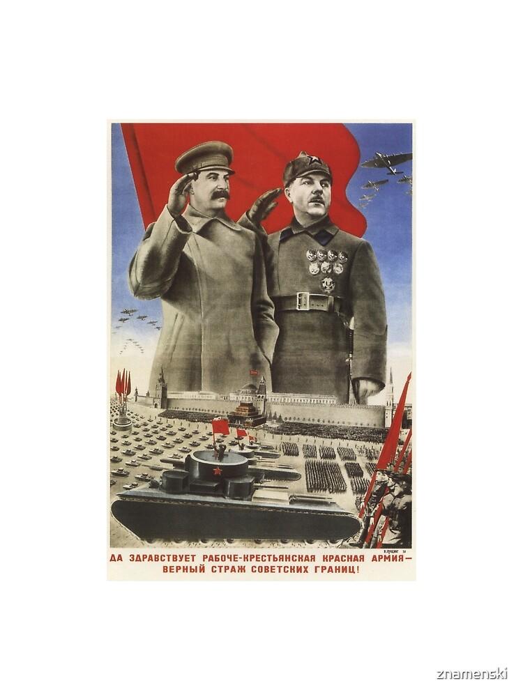 Soviet Red Army Poster by znamenski