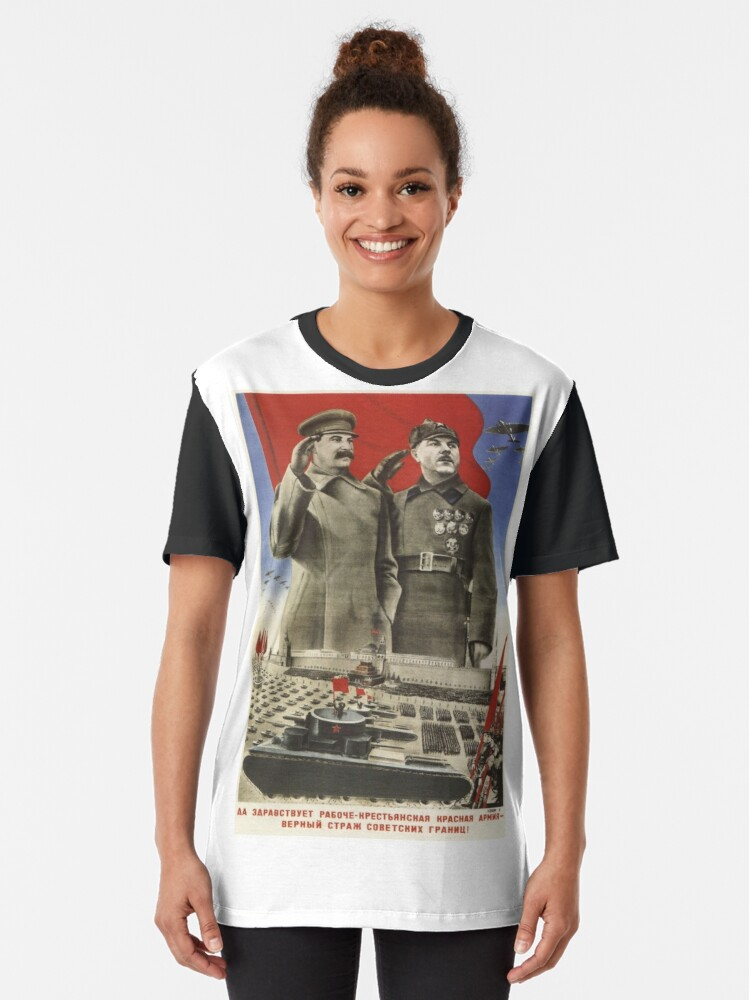 Alternate view of Soviet Red Army Poster Graphic T-Shirt