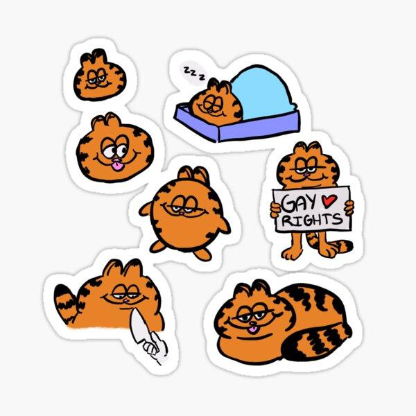Funnie Garfs Sticker