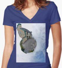 Biddy's House - the Crossroads Pub, Glencolmcille(Sky Out) Women's Fitted V-Neck T-Shirt