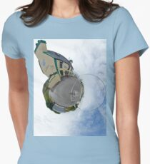 Biddy's House - the Crossroads Pub, Glencolmcille(Sky Out) Women's Fitted T-Shirt