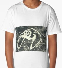Monochrome Owl Long T-Shirt