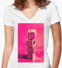 Building blocks of love Women's Fitted V-Neck T-Shirt
