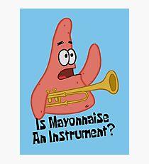 Ist Mayonnaise ein Instrument? - Spongebob Fotodruck