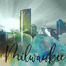 Milwaukee | Stadt Skyline | Buntes Aquarell von PraiseQuotes