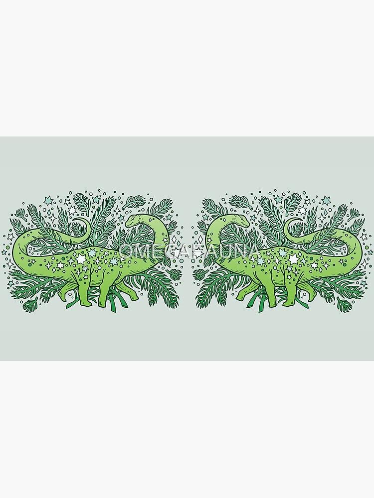 Wintersonnenwende Sauropod | Evergreens-Palette von OMEGAFAUNA