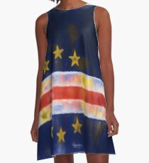 Cape Verde Flag Reworked No. 2, Series 1 A-Linien Kleid