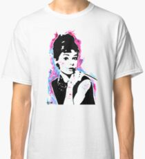 Audrey Hepburn - Street art - Watercolor - Popart style - Andy Warhol Jonny2may Classic T-Shirt