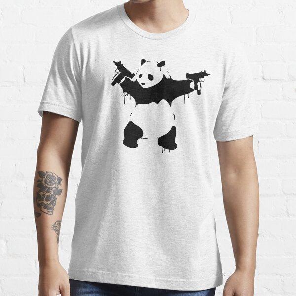 Banksy Panda Guns Essential T-Shirt