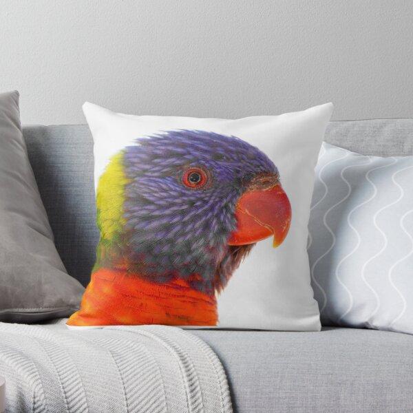 Rainbow Lorikeet Throw Pillow