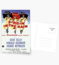 Singin im Regen Klassisches Filmplakat Postkarten