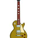 Gold electric guitar by Yaus