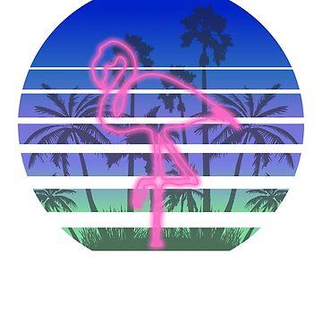 Retro Pink Flamingo by Vdubs59