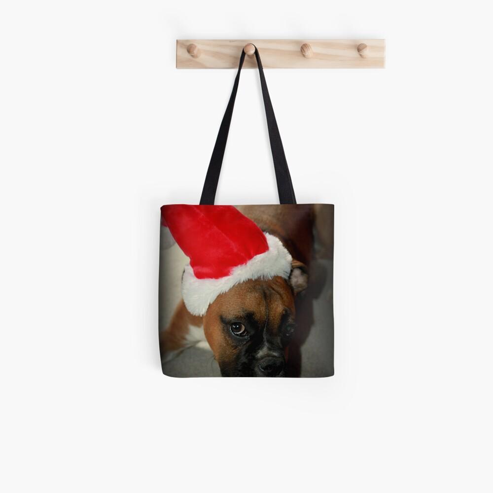 Dino ~ Santas kleiner Helfer ~ Boxer Dog Series Tote Bag