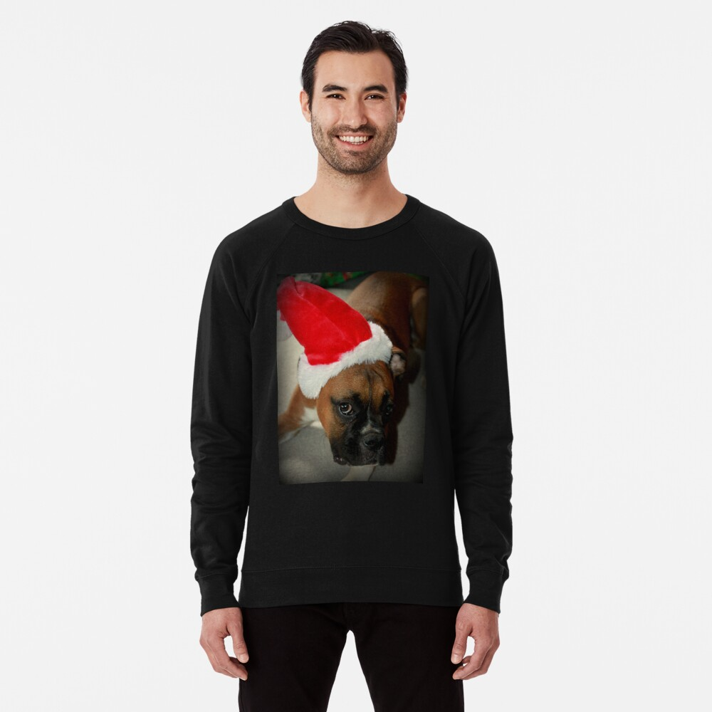 Dino ~ Santas kleiner Helfer ~ Boxer Dog Series Leichter Pullover