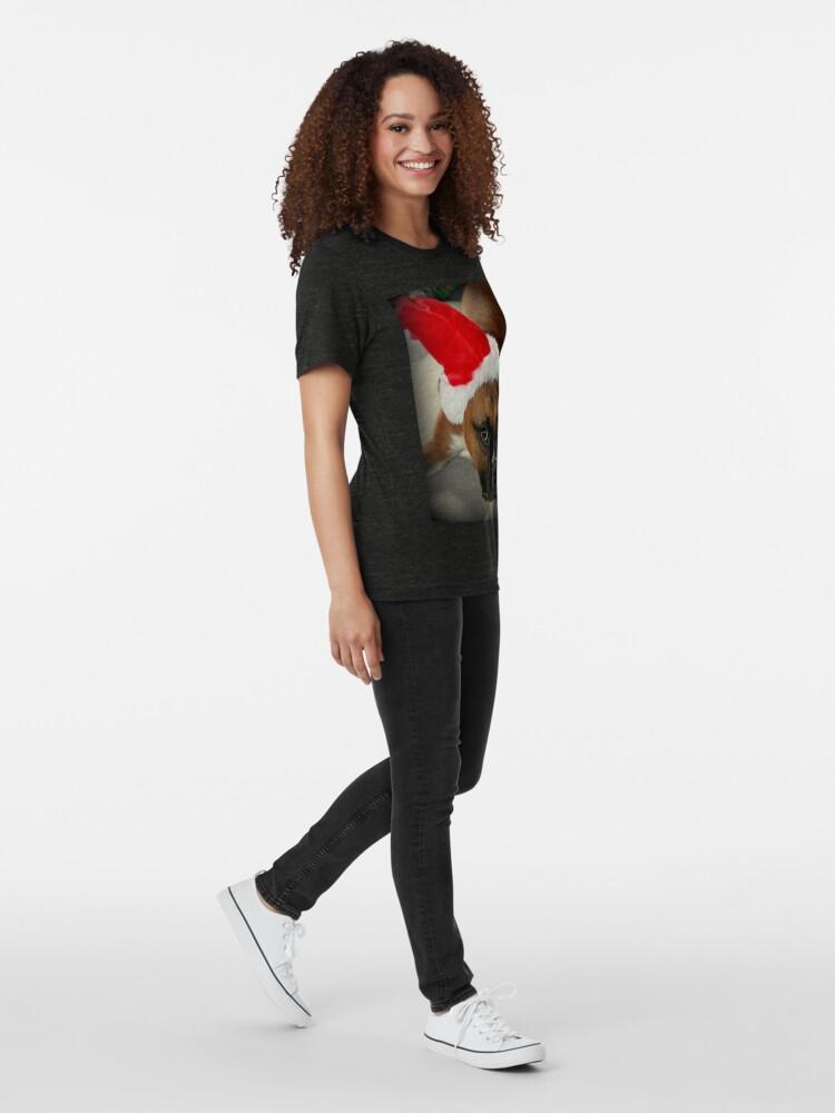 Alternative Ansicht von Dino ~ Santas kleiner Helfer ~ Boxer Dog Series Vintage T-Shirt