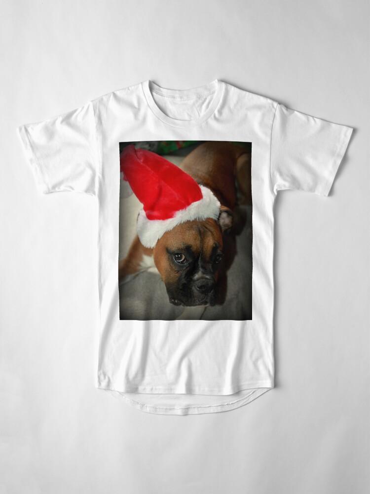 Alternative Ansicht von Dino ~ Santas kleiner Helfer ~ Boxer Dog Series Longshirt