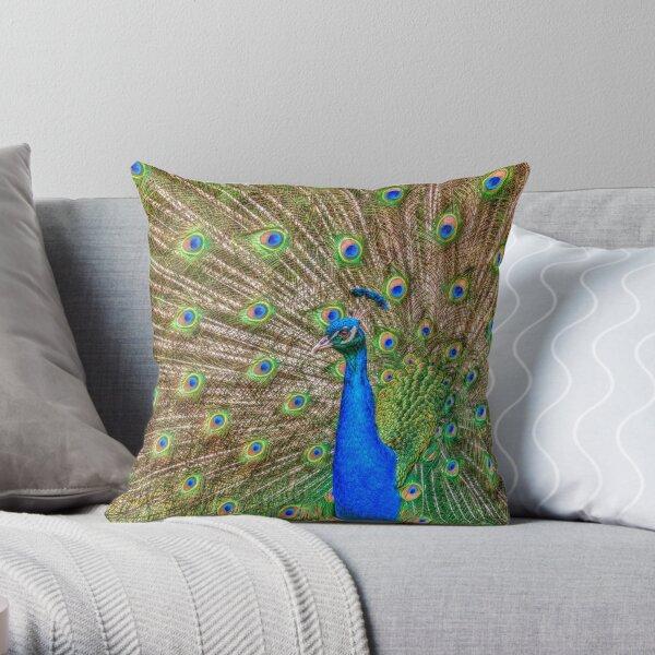 Indian Peafowl Throw Pillow